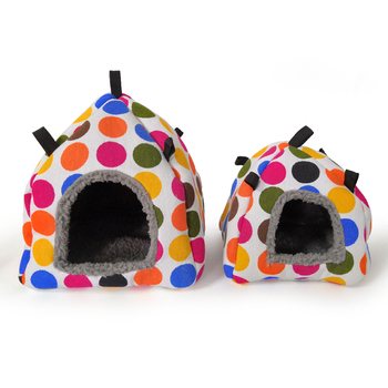 Color Random Warm Cotton Tent Shape Small Pet Squirrel Parrot Sugar Glider Hanging Cage Hamster Cage Bed House Hedgehog Nest Toy 5