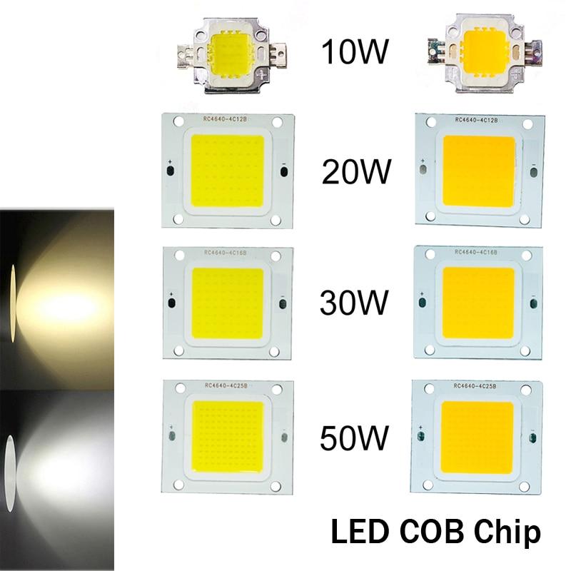 DC12V LED Chip Light Cool//Warm White DIY High Power 10-50W COB Bulb Diode Strip