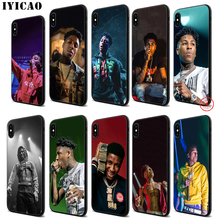 IYICAO YoungBoy Never Broken Again Soft Black Silicone Case for iPhone 11 Pro Xr Xs Max X or 10 8 7 6 6S Plus 5 5S SE