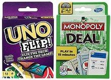 Jouet Puzzle Uno jeu de carte et monopole Deal jeu de carte jouer carte famille partie jeu de société