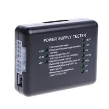 1PC Black PC 20 24 Pin PSU ATX SATA HD Power Supply Tester Drop ShipDrop ship brand new digital lcd pc computer pc power supply tester 20 24 pin sata hdd testers high quality