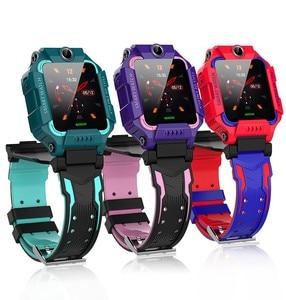 Для девочек и мальчиков новый год wifi онлайн Бесплатный телефон смарт часы LBS раскладушка с двумя камерами русская sim-карта Смарт часы подаро...