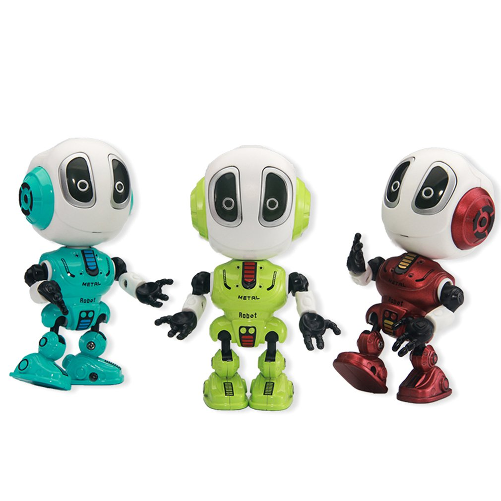 RC Alloy Robot Touch Sensing LED Eyes Smart Voice DIY Body Multi-function Music Model Toy Kids Toy Gift