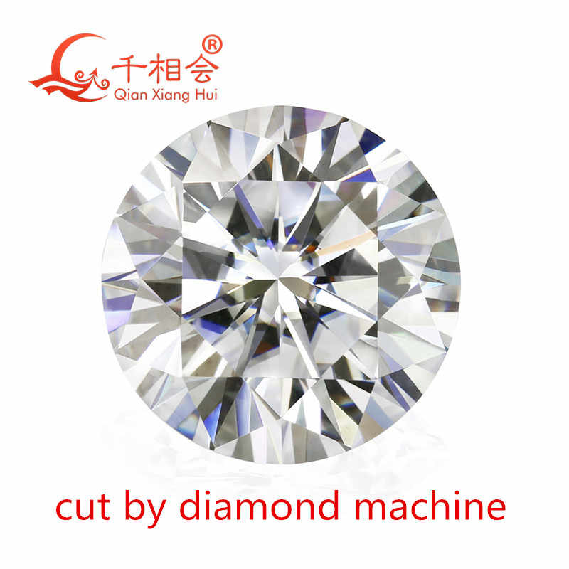 קוטר מונד מכונה לחתוך 3.5mm כדי 12mm DF צבע לבן הטוב ביותר באיכות עגול צורת מבריק לחתוך moissanites loose אבן