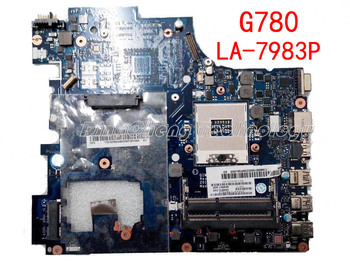 HOLYTIME laptop Motherboard for Lenovo G780 LA-7983P QIWG7 HM76 GMA HD DDR3 integrated graphics card 100% tested Fully