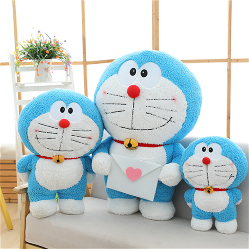 40/60/80cm Kawaii soporte Doraemon de felpa de juguete carta de amor Anime largo personaje de felpa muñeca gato niños juguete de bebé lindo regalo de Navidad 1 unidad 40/60/80cm muñecos de peluche de animales Kawaii dibujo unicornio arcoíris juguetes de peluche para niños juguetes presentes niños regalo de cumpleaños para bebés