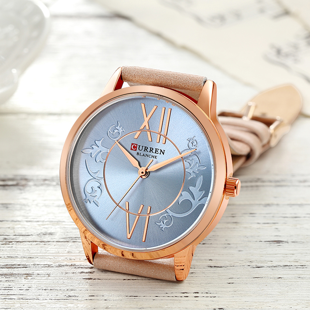 Watches Women CURREN Fashion Creative Analog Quartz Wrist Watch Waterproof  Business Casual Leather Ladies Clock Reloj Mujer