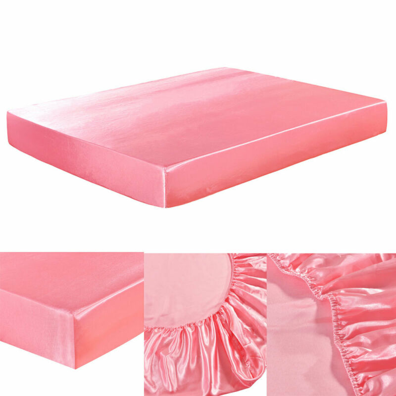 Bed Fitted Sheet Elastic Sheets Polyester /& Cotton Single Twin Full Queen King