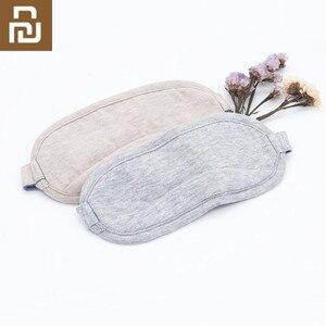 Image 1 - Original Youpin 8H Auge maske Reise Büro Schlafen Rest Hilfe Tragbare Atmungsaktive Schlaf Brille Abdeckung Fühlen kühles eis Baumwolle