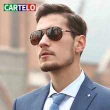CARTELO Men's Glasses Driver Driving Toad Mirror Driving Special UV400 New Sunglasses Men Polarized Outdoor Casual Sunglasses