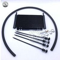 Free shipping Oil Cooler Aluminum Transmission Oil Cooler Automatic Stacked Plate Oil Cooler Radiator 4 6 8 12 13Row 15Row 22Row|Oil Coolers|Automobiles & Motorcycles -