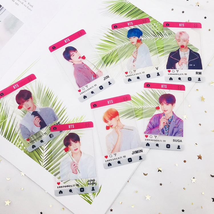 BTS Bulletproof Boys Pass Card 21 Pcs Frosted Small Card New Album Return Photo Photo Card  Celebrity Style Card Kids Gift