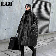 Long-Sleeve Women Parkas EAM Down-Jacket Autumn Winter Fashion Fit New-Stand-Collar Loose