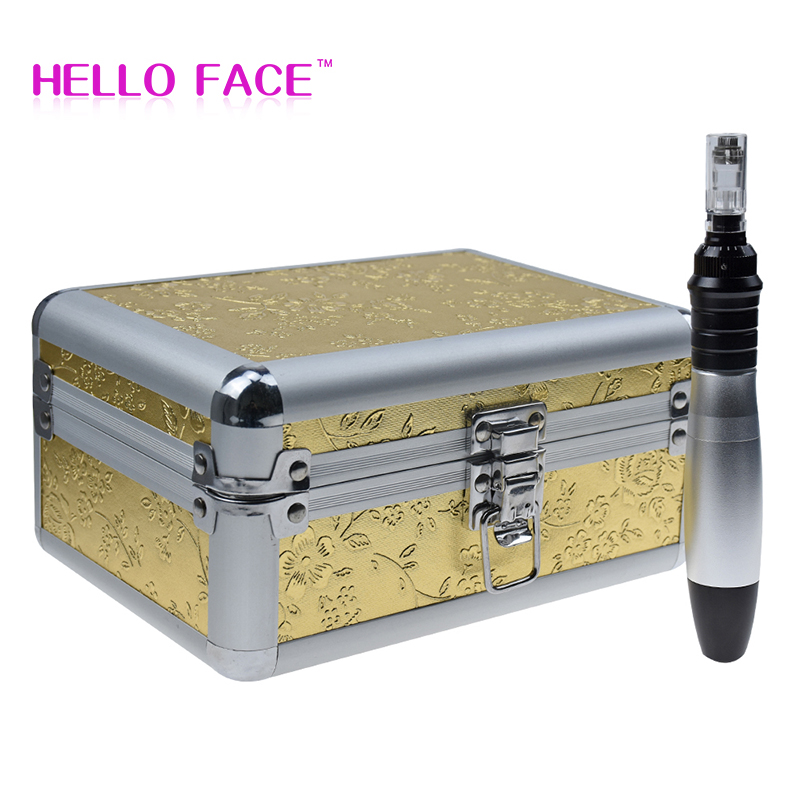 Electric Derma Stamp Pen Auto Micro Needle Derma Pen SKIN Rejuvenation System Home Use Beauty Care With Beauty Box