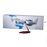 47CM 1/142 Airbus A350 Prototype XWB Airline plane model resin airframe W landing gear & light airplane toys fixed wing aircraft