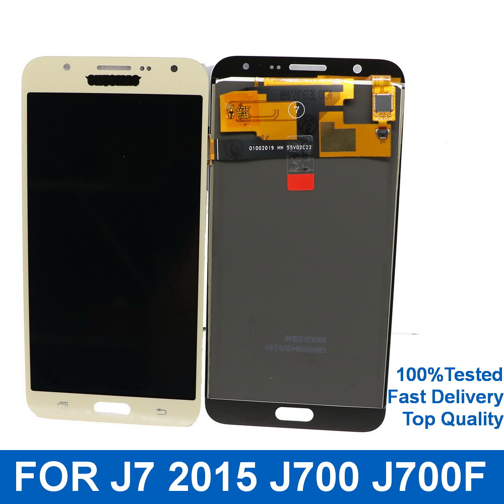 Suitable for <font><b>SAMSUNG</b></font> Galaxy J7 Mobile phone <font><b>LCD</b></font> <font><b>J700</b></font> 2017J700F J700H <font><b>LCD</b></font> Display Touch Screen Digitizer With brightness control image