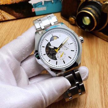 Zegarki męskie 2021 luksusowe Skeleton automatyczne mechaniczne zegarki znane oryginalne markowe męskie zegarki Relogio Masculino tanie i dobre opinie HENGBOLONG bez wodoodporności CN (pochodzenie) Składane bezpieczne zapięcie BIZNESOWY Samoczynny naciąg 22cm STAINLESS STEEL