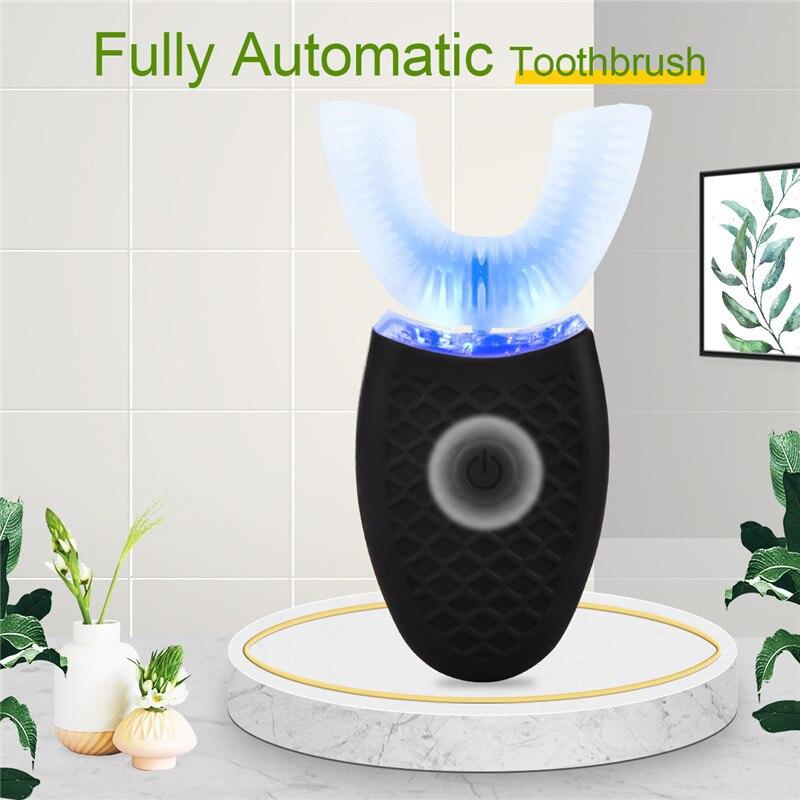 USB şarj tam otomatik yumuşak elektrikli diş fırçası su geçirmez Sonic diş fırçası U şekli diş beyazlatma yetişkin çocuk