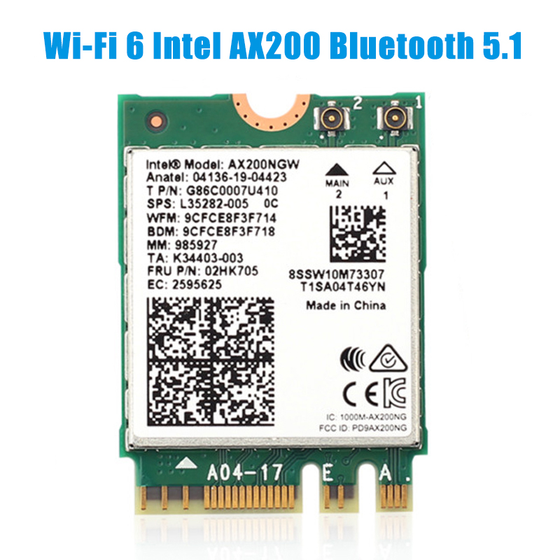 WiFi 6 Dual Band 3000Mbps Wireless Card For Intel AX200 M.2 Bluetooth 5.0 2.4G/5Ghz 802.11ac/ax AX200NGW Network Wi-fi Adapter(China)