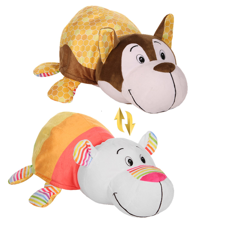 Мягкая игрушка Вывернушка 1TOY Ням Ням 2 в 1, 12 см. Хаски   Полярный мишка|Мягкие игрушки животные|   | АлиЭкспресс