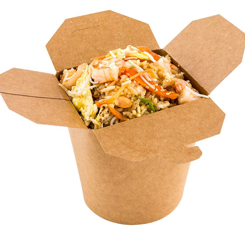 Free Shipping - Parties Catering Supplies,Kraft Paper Noodle Take Out Food Box - 1000ml/32oz Containers For Restaurant, 10/Pack