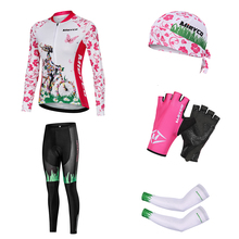 High Quality Long Sleeves Sports Cycling Clothing Multicolor Cycling Jersey Sets For Women Racing MTB Jackets Arm Sleeves amp Caps cheap MIEYCO 100 Polyester Lycra Polyester Factory Direct Sales 80 Polyester and 20 Stretch Spandex GEL Breathable Pad Full