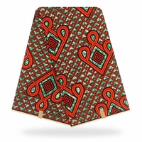 Hot sale African Wax Fabric Prints 100% cottonr Binta 6 yard Real Wax African Fabric High Quality for Party Dress