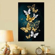 Butterfly Pattern 3D Diy Diamond Painting Cross Ctitch Art Kits Diamond Crystal Embroidery Mosaic Painting Decor U0Q9