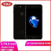 Оригинальный Apple iPhone 7 7 плюс пикселей, 3 Гб оперативной памяти, 32/128 ГБ/256 ГБ ROM Quad-Core IOS LTE 12.0MP камера, определение отпечатка пальца б/у разблокир...