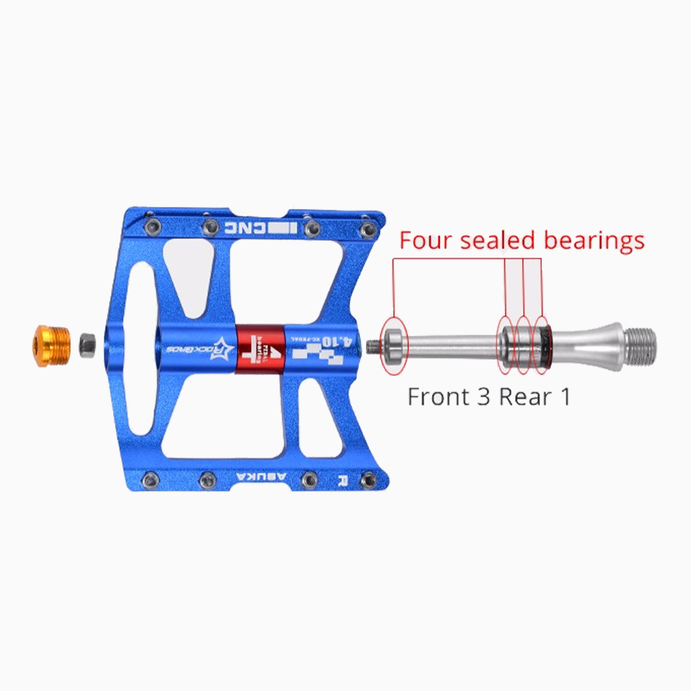 ROCKBROS Mountain Bike Bicycle Pedals Cycling Ultralight Aluminium Alloy Pedals Bicicleta Mountain Bicycl Pedals Mountain Bike Bicycle Pedal     - title=