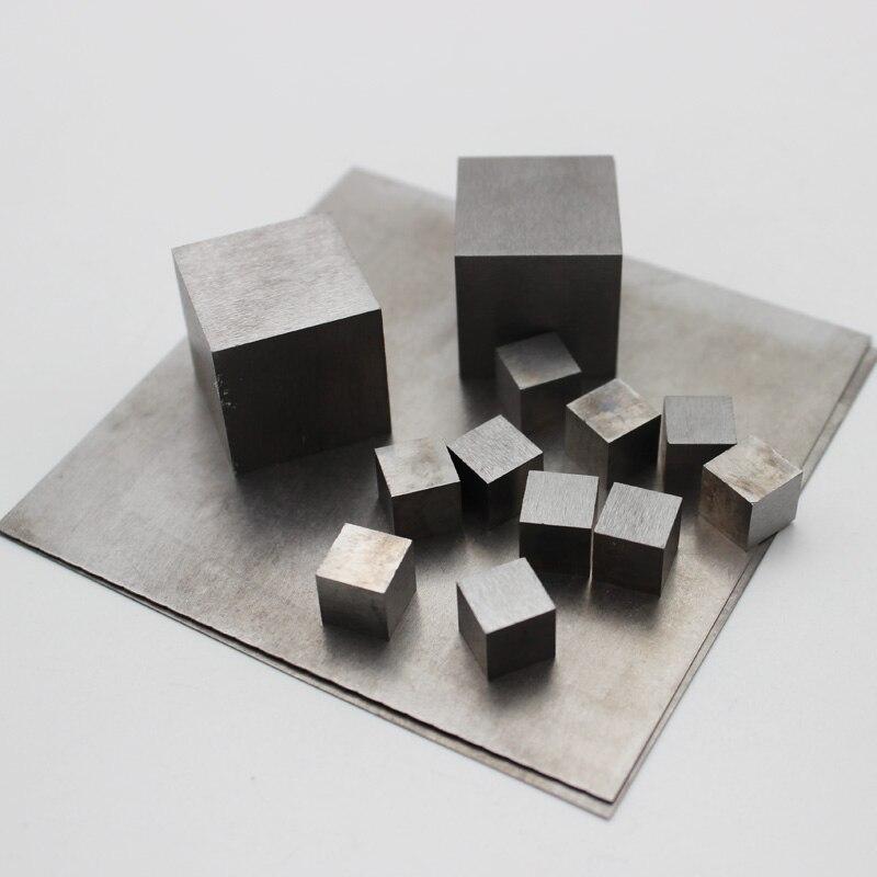 99.99% Cubo de tungsteno puro/placa de hoja