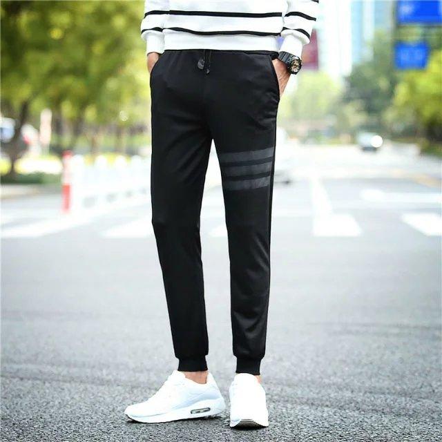 Men Harem Pants Slim Fit Skinny Pants Casual Athletic Pants Sweatpants Teenager 9 Spring Closing Foot Ankle Banded Pants