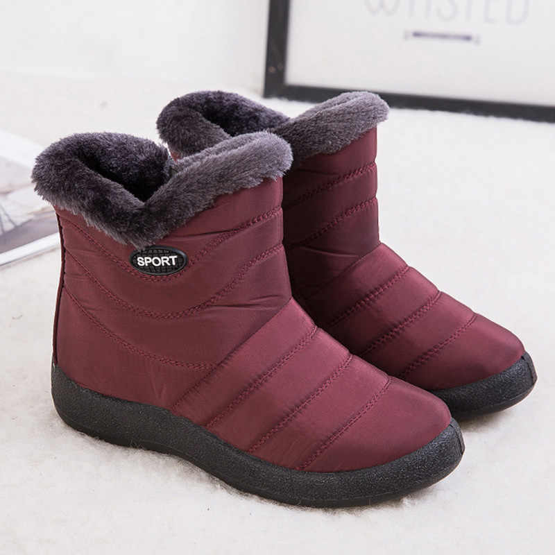 Botines de mujer botas de nieve cálidas de felpa zapatos de invierno de mujer Botines zapatos impermeables para mujeres botas de invierno de mujer