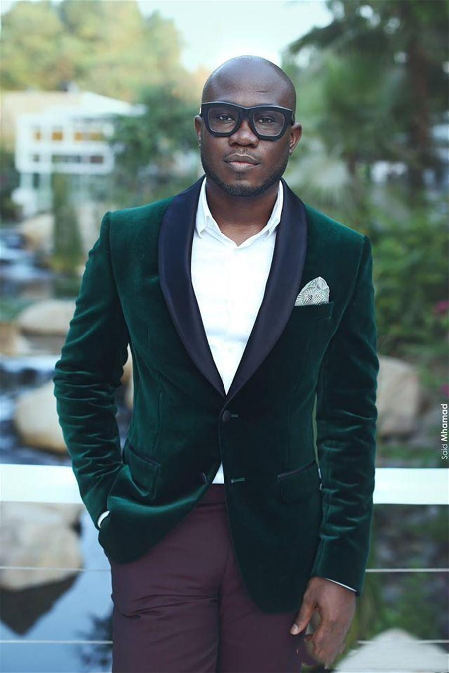 Custom Black Shawl Velvet Grooms Wedding Tuxedos Slim Fitted Groomsmen Wedding Suits Men Suit Tailor Made (Jacket+Pants)