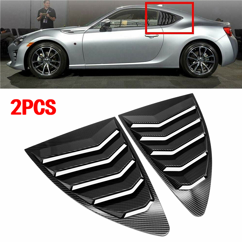 Rear Quarter Window Louvers Spoiler Panel ABS Decoration Accessories For Scion FRS For Subaru BRZ For Toyota 86 GT86 2013-2018