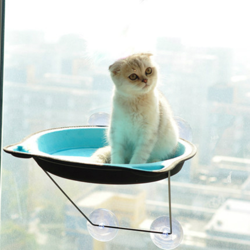 Cat Hammock Bed Window Pod Lounger Suction Cups Warm Bed For Pet Cat Rest House Soft And Comfortable Ferret Cage in Cat Beds Mats from Home Garden