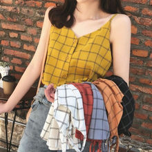Kancoold Tank Top Fashion Vrouwen Outer Wear V-hals Mouwloze Camis Vest Pliad Knop Losse Tops Casual Nieuwe Crop Top 2020FEB22(China)