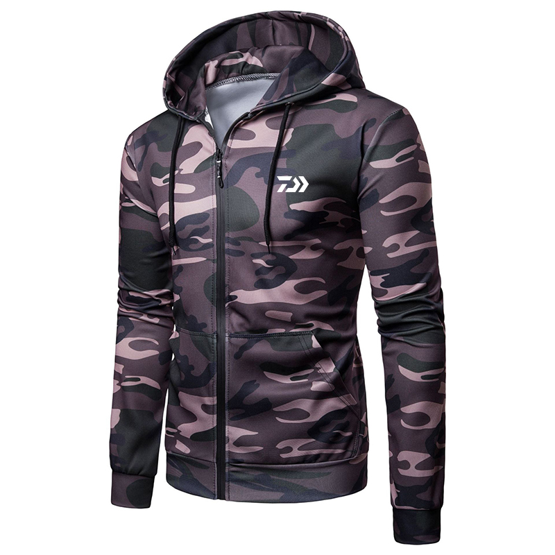 2020 Daiwa Men Keep Warm Fishing Hoodies Fishing Clothing Hooded Jacket Long Sleeve Camouflage Coat Fishing Shirt