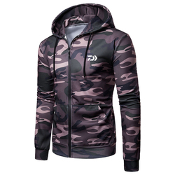 2020 daiwa homens manter quente pesca hoodies roupas de pesca com capuz jaqueta manga longa camuflagem casaco camisa de pesca