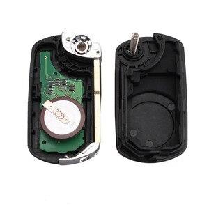 Image 5 - KEYYOU 433MHz 3 przyciski odwróć składany zdalnie sterowany klucz pilot z kluczykiem samochodowym dla RANGE ROVER Sport Land Rover Discovery 3