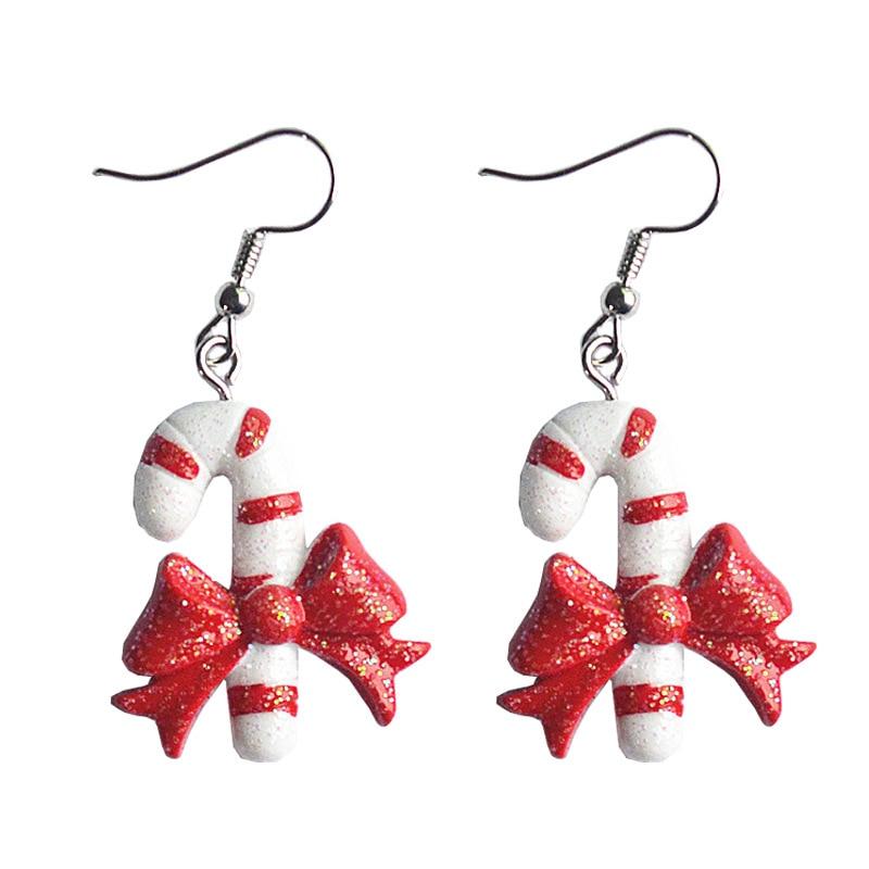 Висячие серьги DoreenBeads из смолы, рождественские украшения, белые, красные, снежинки, Санта-Клаус, шапки на рождественскую елку длиной 5 см (2 дю...