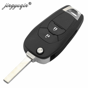 Image 2 - Jingyuqin 5 adet modifiye 2 düğme uzaktan akıllı anahtar Fob için Chevrolet Cruze 2014 2018 433 MHZ ID46 PCF7941 çip anahtar kontrol