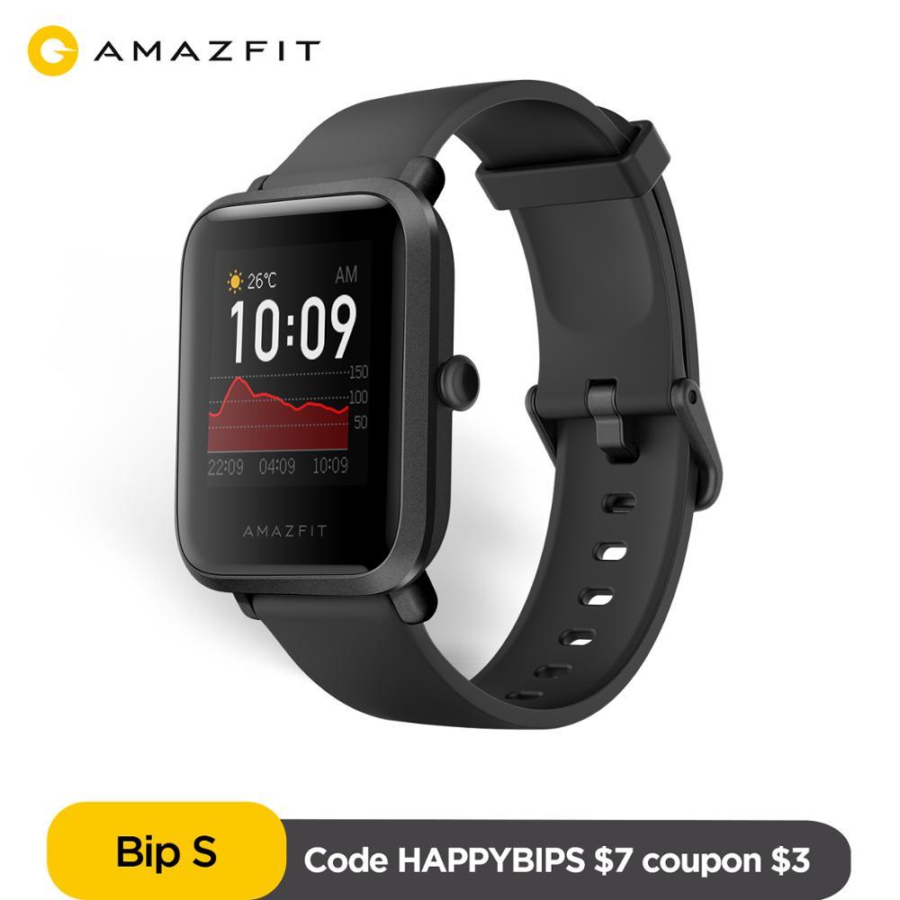 Em estoque amazfit bip s versão global smartwatch 5atm gps glonass bluetooth relógio inteligente