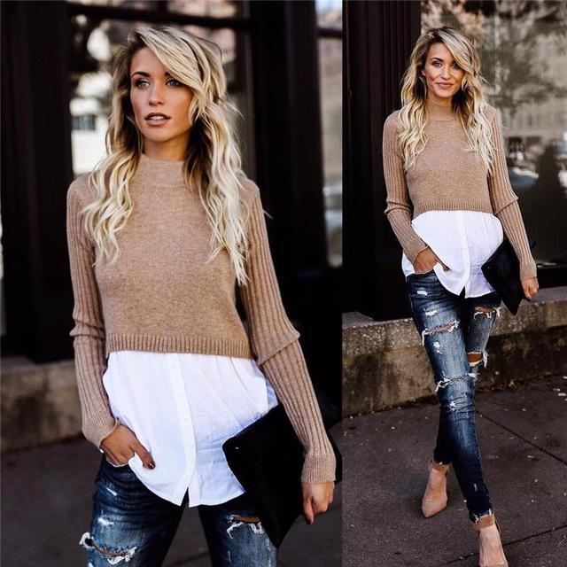 Black Knit Long Sleeve Button Pullover Sweater 5