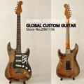 Высококачественная реликсовая электрическая гитара, в стиле SRV, с алюминиевым корпусом и кленовым грифом, пользовательская электрическая г...
