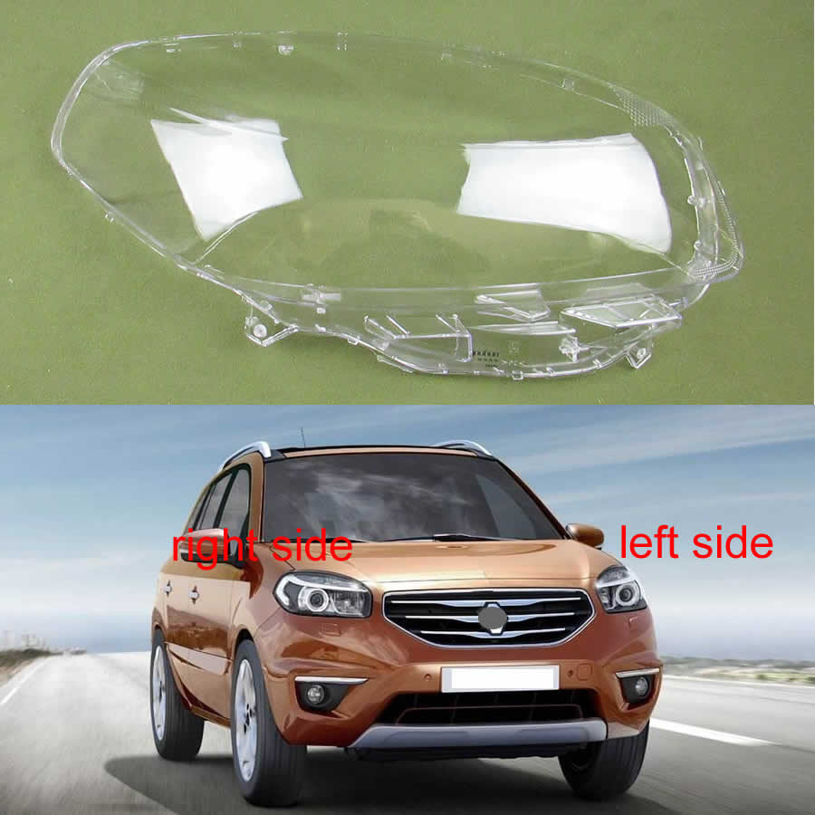 For Renault Koleos 2012 2013 2014 2015 2016 Headlight Cover Lens Transparent Lampshade Headlamp Cover Headlight Shell Lamp Shade