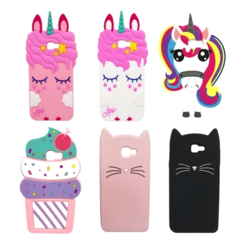 Cute 3D Cartoon Unicorn Cat Soft Silicone Phone Case For Samsung Galaxy 2016 on 5 on5 J5 Prime on 7 on7 J7 Prime Cover Bag crocodile genuine flip leather case for samsung galaxy c5 c7 c9 pro c10 on5 on7 on8 2016 2017 j5 j7 prime cell phone cover
