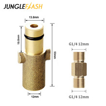JUNGLEFLASH High Pressure Washer Adapter For Nilfisk Gerni Series Connection For Snow Foam Lance Foam Generator Gun Car Washer