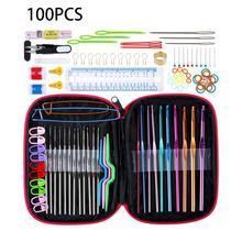 Hook-Set Craft-Markers Knitting-Needles-Set Sewing-Tool Crochet DIY 100pcs