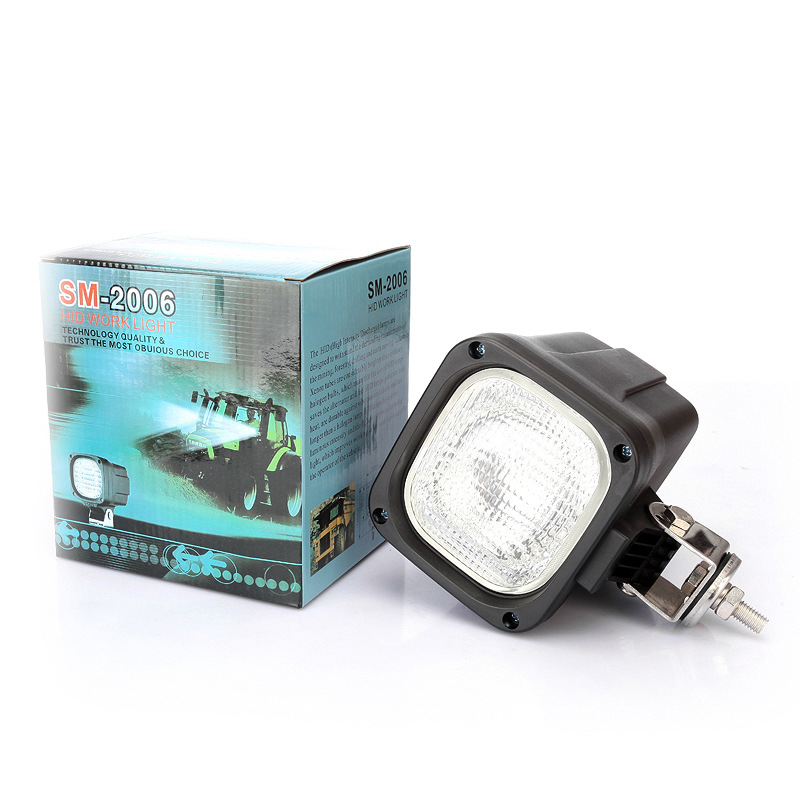 Xplus 4 inch 55W 35W Hid Xenon Work Light IP67 Car Xenon Lamp Hid offroad bulb 6000K 12V Spot/Flood Beam driving fog light